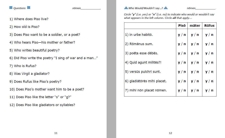 Teacher's Guide & Student Workbook for Pīsō | Magister P.